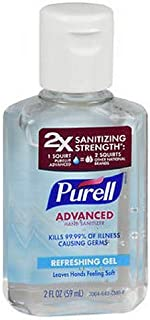 Purell Advanced Hand Sanitizer Gel, Original 2 oz by Purell (Pack of 2)