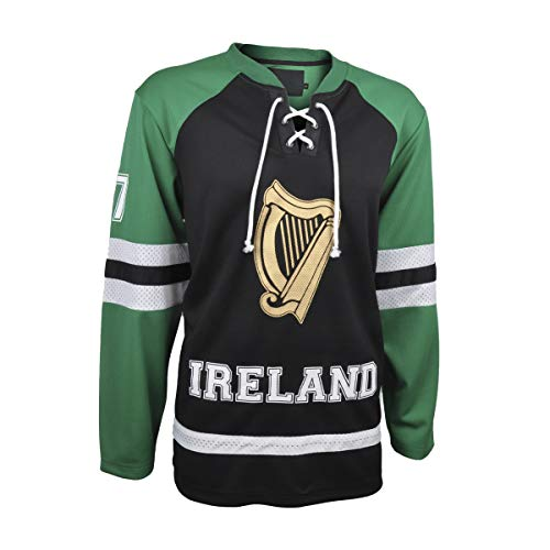 Croker Ireland Hockey Jersey Black & Green (Small)