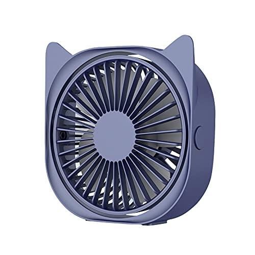 IWILCS Rotazione a 360 ° Portatile Ventilatore, USB Ventilatore da Scrivania, Mini Ventilatore USB, PC Silenzioso Miniventilatore, Controllo a 3 Velocità, per Casa Ufficio PC(Blu)