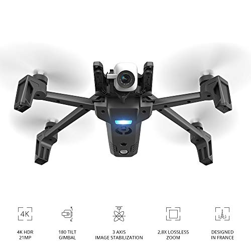 Parrot PF728000 Anafi Drone, Foldable Quadcopter Drone with 4K HDR...
