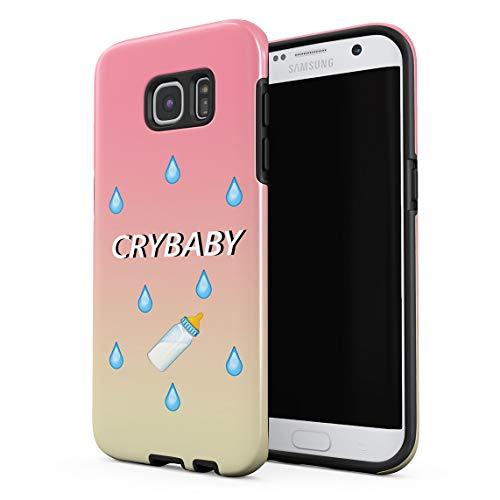 Cover Universe Funda para Samsung Galaxy S6 Edge Whiner Sissy Crybaby Emoji, Resistente a los Golpes, Carcasa Dura de PC de 2 Capas + Funda Protectora de Diseño Híbrido de TPU