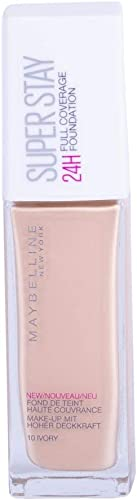 Maybelline SuperStay 24HR Full Coverage Liquid Foundation - Ivory 10