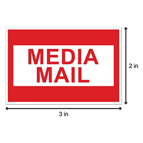 300 Labels - 2x3 Media Mail Mailing Shipping Labels Stickers Photo #2