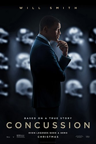CONCUSSION MOVIE POSTER 2 Sided ORIGINAL Advance 27x40 WILL SMITH