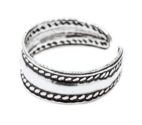 WINDALF Zehenring BELLA h: 0.5 cm Middi Ring Wikinger Style Boho Vintage 925 Sterlingsilber