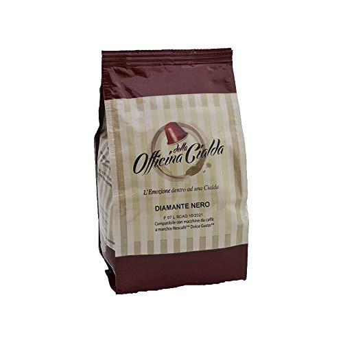 ODC Cápsulas de café compatibles con cafetera sistema Nescafè Dolce Gusto Kit formado por 96 cápsulas de café mezcla negra diamante intensidad 11 con cierre para preservar el frescor Made in Italy