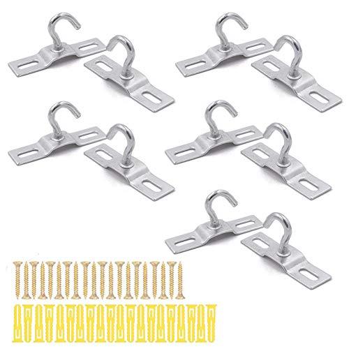 10 Stück Deckenhaken Schraubenmontage Schwere Eisenverzinkter für europäische IKEA Lampen Deckenventilatoren Blumenkorb Halter