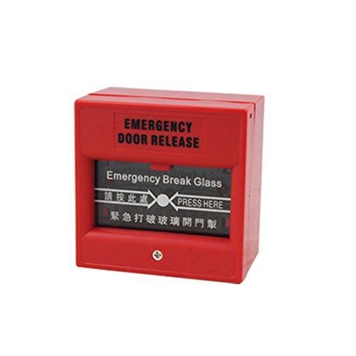 Alarma de Seguridad de fuego rojo de cristal Botón rotura de la emergencia de la puerta de salida