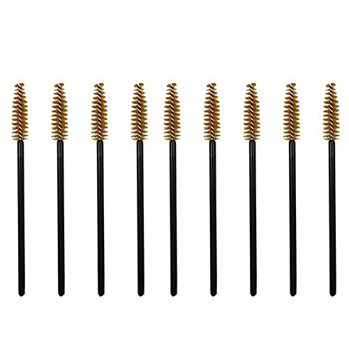 Xuxuou 50Pcs Mini Peigne à cils Cosmétique pour cils Pinceau Goupillon Applicateur de Mascara et Brosse à Sourcils