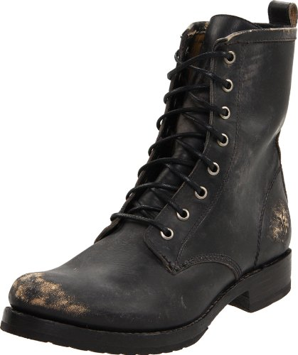 Frye Damen Veronica Combat Boot, Schwarz (Black Stone Washed-76272), 43 EU