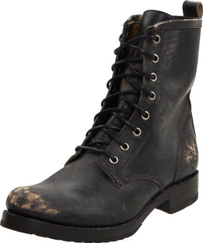FRYE Damen Combat Veronica, Springer, Black Stone Washed-76272, 42 EU