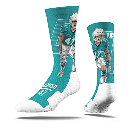 Strideline Kiko Alonso #47 Miami Action NFL Socken Aqua, M/L