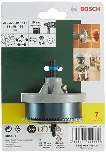Bosch Professional 2607019449 Set 7 coronas sierra, Piezas