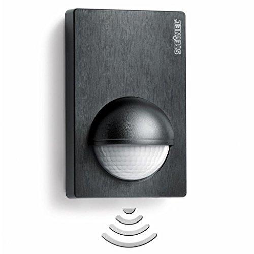Steinel Detector de movimiento infrarojo IS 180-2 negro, Sensor de movimiento para dentro y fuera, 180° ángulo de detección, Ideal para fachadas, entradas principales, jardines o patios, 603113