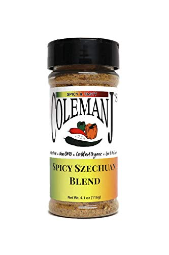ColemanJ's - Spicy Szechuan Seasoning - 4.1 oz , Certified Organic, Keto, Non-GMO, Gluten-Free, Vegan, Low Salt, No MSG