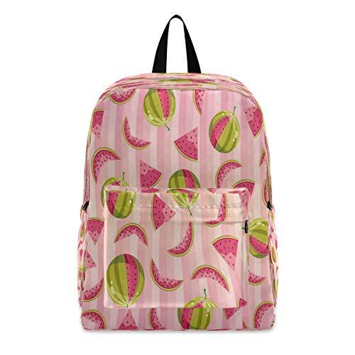 EJudge Laptop Backpack Pink Striped Watermelon Big Shoulder Backpacks Bag Bookbag Lightweight