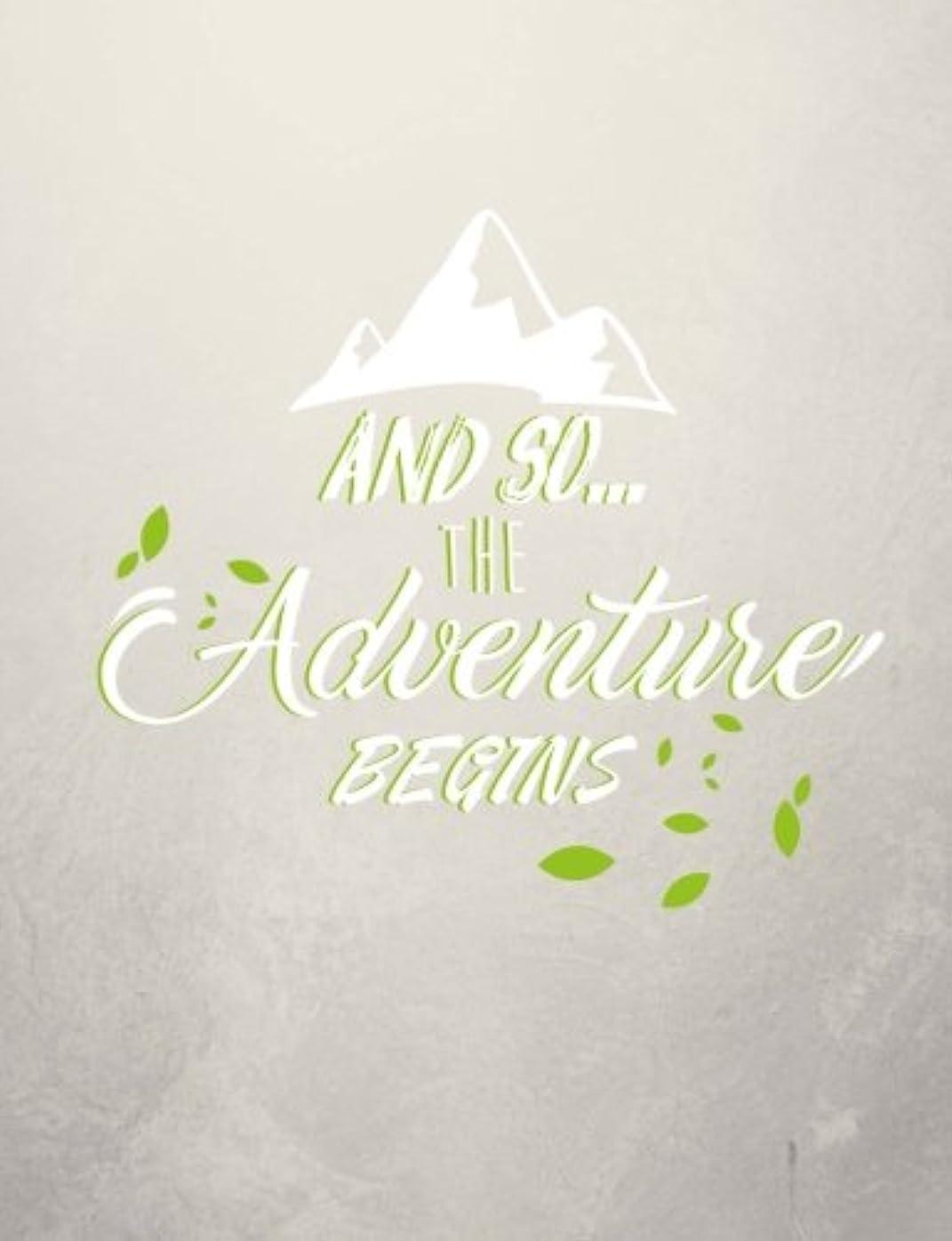 眉をひそめる羊飼い前部And So... The Adventure Begins, Wide Ruled Notebook: 101 sheets / 202 pages