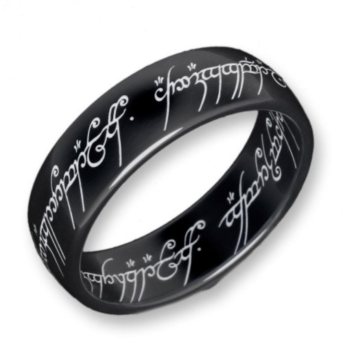 El Señor de los Anillos Lord of the Rings - 2001 - 060 - Anillo unisex de titanio (talla: 20.5)