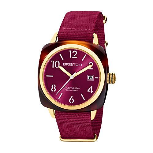 Briston 20240.PYA.T.28.NBER Clubmaster Classic Acetato Reloj de pulsera Berry Rosa