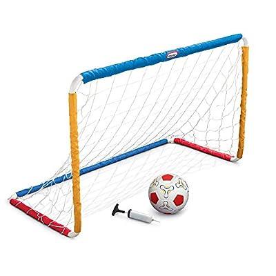 MGA Entertainment Little Tikes Easy Score Soccer Set w/net + Ball + Pump, White/Red/Blue