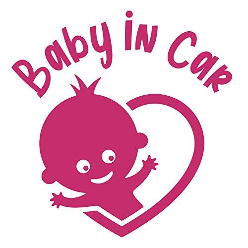 Naklejka na samochód Baby in Car Naklejka na samochód Naklejka dla niemowląt samoprzylepna odporna na warunki atmosferyczne wodoodporna winylowa akcesoria samochodowe K147 (element agenta, kąt)