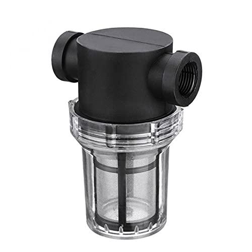 Qagazine Filtro de la bomba Jardín de alto flujo de agua al aire libre de la tubería de agua Filtro de riego Filtro de la bomba de agua Filtro de riego Filtro de tubería de alto flujo