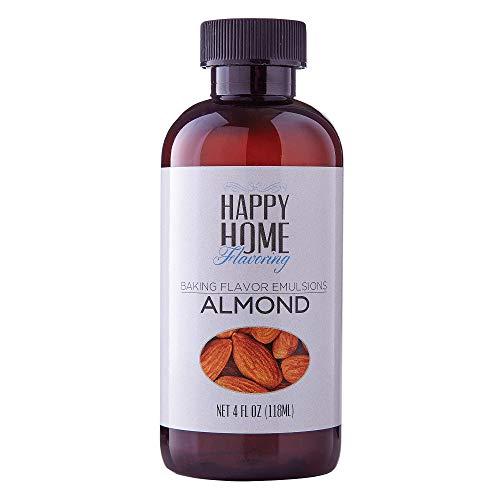Happy Home Flavoring Natural Almond Baking Flavor Emulsion - Certified Kosher, 4 oz.