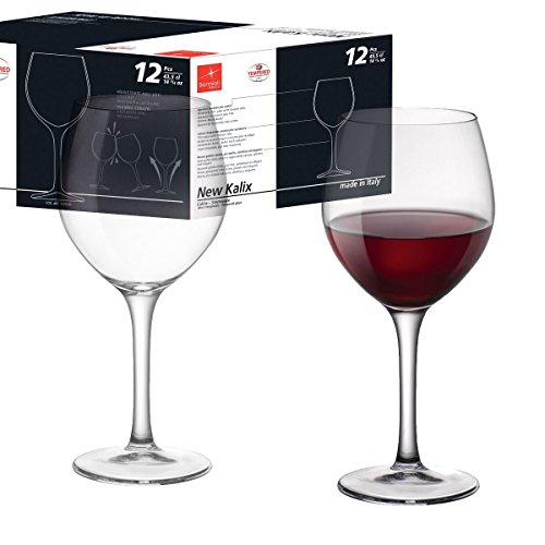 Bormioli Set 12 CALICI Vino Burgundy 43,5 cl New KALIX Made in Italy