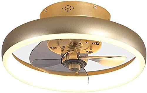 Ventilatore da soffitto moderno con luce 4 lame regolabile velocità del vento a led ventilatori a soffitto 3 colori con telecomando a motore silenzioso al coperto da incasso con lampadario LED con lam