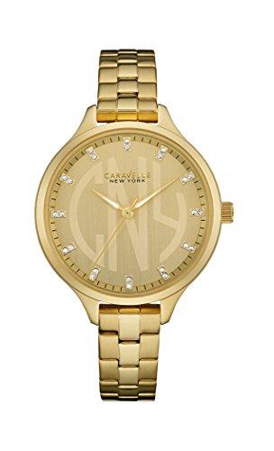 Caravelle New York Damen-Armbanduhr DRESS Analog Quarz Edelstahl beschichtet 44L206