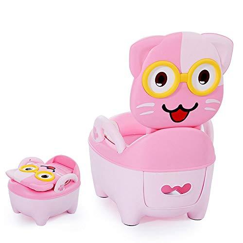 ZGZRXGY Tipo de baño de tipo de cajón agrandado y grueso, Taburete de inodoro de asiento de asiento de dibujos animados lindo multifuncional con pasamanos para niños para niños para niños bebés y niña