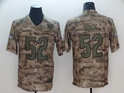 MY0629 NFL - Jersey de fútbol americano para hombre, diseño de los Chicago Bears 52 # Mack, xx-large