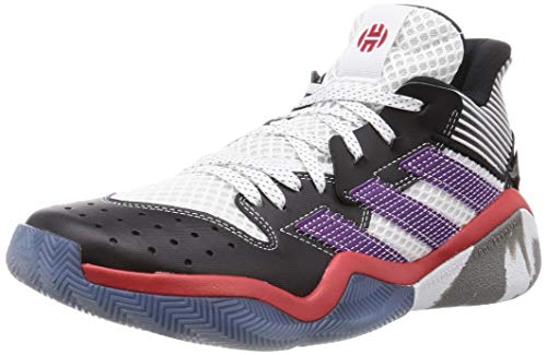 adidas Harden Stepback, Zapatillas Unisex Adulto, Blanc Violet Puissant Noir, 42 EU