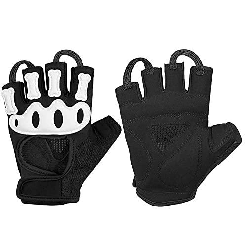 Halve Vinger Fietsen Handschoenen Gevoerde Antislip Vingerloze Rijhandschoenen Wit Xl1pair Vingerloze Rijhandschoenen