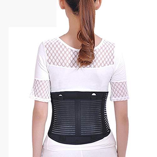 ZFF Rückenbandage Taille Lower Back Brace Unterstützung Gürtel Stabilisierung Lenden Mit Dual Verstellbaren Trägern Für Büro Arbeiter Taille Schmerzen Relief Männer Frauen (Size : M)