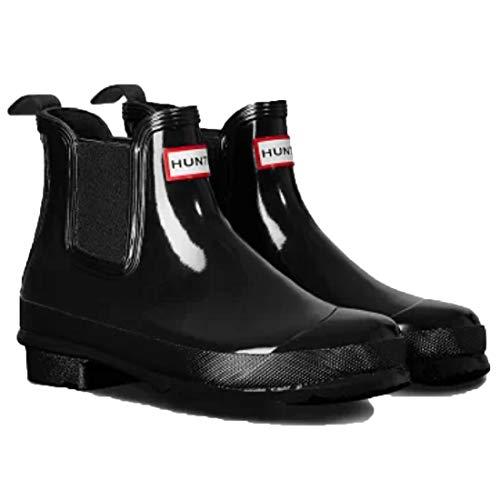 [ハンター] レインブーツ 長靴 オリジナルチェルシー グロス ORIGINAL CHELSEA GLOSS WFS2078RGL BLACK US8(25.0cm) [並行輸入品]
