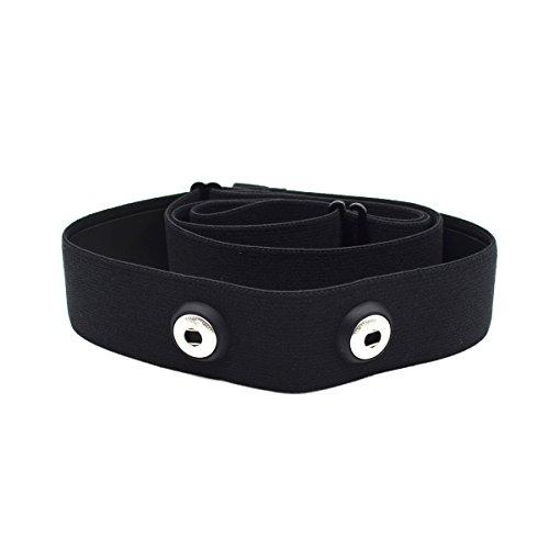 Elastischer Sport Herzfrequenzmesser, Verstellbarer Brustgurt, Gürtelriemen , CooSpo Original HRM Belt Black