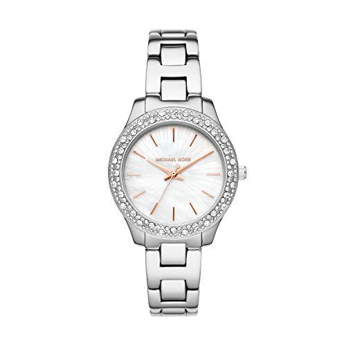 Michael Kors Women's Liliane Quartz Watch with Stainless Steel Strap, Two-Tone, 16 (Model: MK4556)