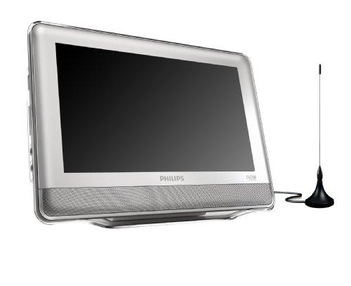 Philips PT 9000 tragbarer 23 cm (9 Zoll) Fernseher (DVB-T Tuner, integrierter DVD Player)