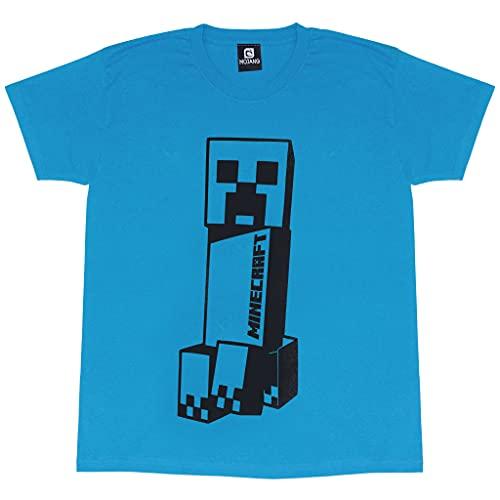 Minecraft Torre Inclinada de Niños de la Enredadera Camiseta Teal 9-11 años | Top Gamer, Gaming Ropa, Idea Regalo para los niños
