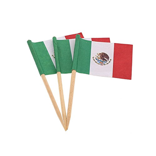 Royal Mexican Flag Picks, Pack of 144