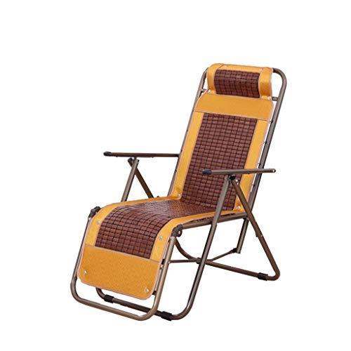 KHL Nouvelle Chaise de Loisirs inclinable Zero Gravity Leisure Chair inclinable Chaise Longue adapté au Jardin Coussin Pliant extérieur Zone de la Piscine intérieure Chambre (Size : A)