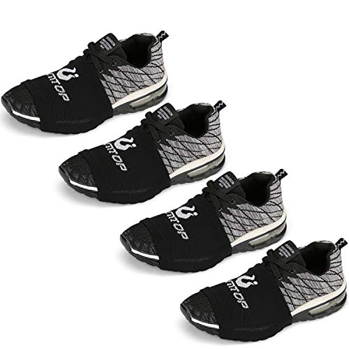 LAMANTOP Socks for Dancing- Over Sneakers Shoe Socks Sliders-Zumba Strong Accessories-Sole Control Wraps-Portable Dance Floor-Cize Dance Workout on Wood Smooth-4 Pairs for Women Men-One Size Fits All