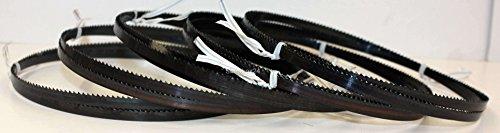 5 x Premium Sägeband Bandsägeband Bandsägeblatt Sägebänder 1505 mm x 6 mm x 0,36 mm x 10 Zähne pro Zoll , für Sperrholz, geeignet für Maschinen wie : Elektra Beckum BS 230 , Rexon 2300 A uvm.