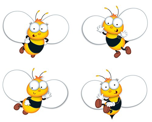 Carson Dellosa – Buzz-Worthy Bees Colorful Cut-Outs, Classroom Décor, 45 Pieces