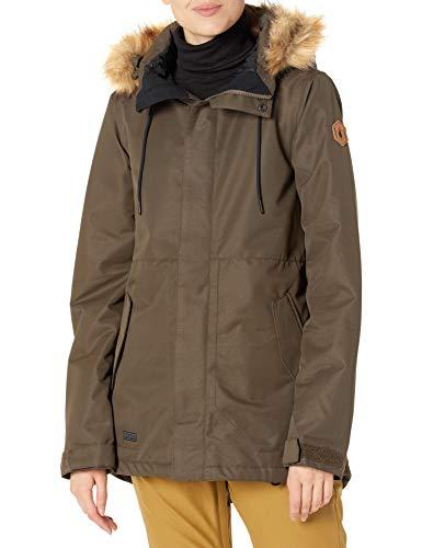 Volcom Fawn Insulated Jacket Chaqueta aislada, Negro Militar, L para Mujer