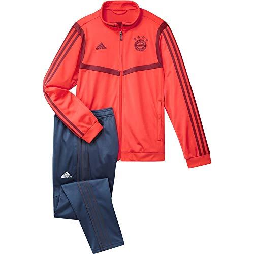 adidas Unisex Kinder FCB PES Suit Y Trainingsanzug, rot/braun, 176