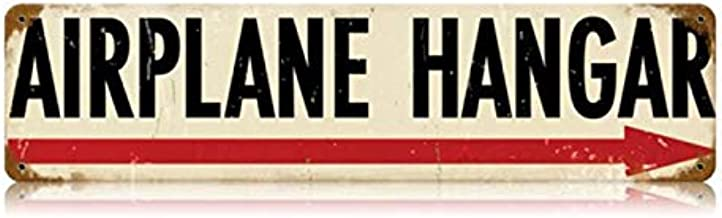 "Vintage Metal Sign /""Hangar//Home/"" 14/"" X 8/"" Great for Pilots and Hangar"