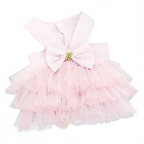 Prinses Pet hond jurk bruidsjurk jurk jurk jurk jurk prinsessenjurk jurk trouwjurk leuke jurk voor hond, jurk van katoen, S, PINK