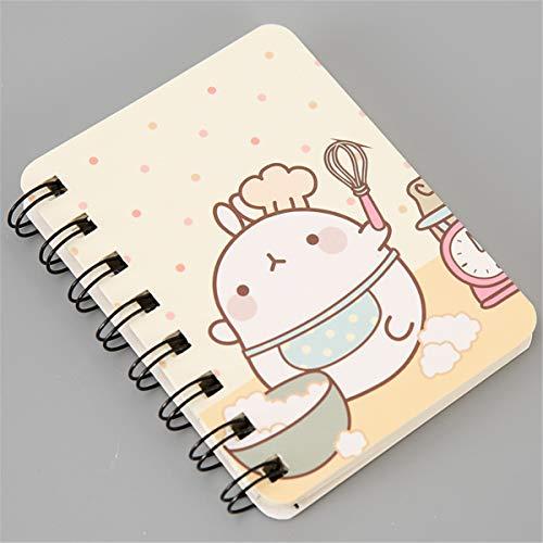RipengPI - Cuaderno (tamaño A7, con diseño de animales y plantas, tamaño pequeño)